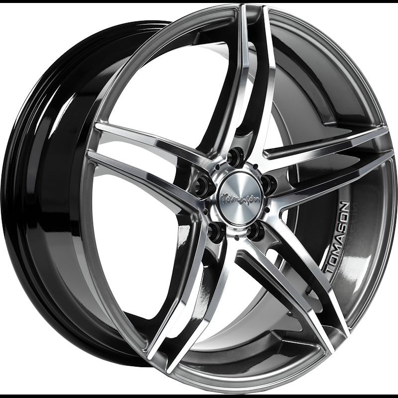TOMASON TN12 dark hyperblack polished 1240000066 TN16 7,5x17 (5x108 72,6) ET42 Dark Hyperblack polished