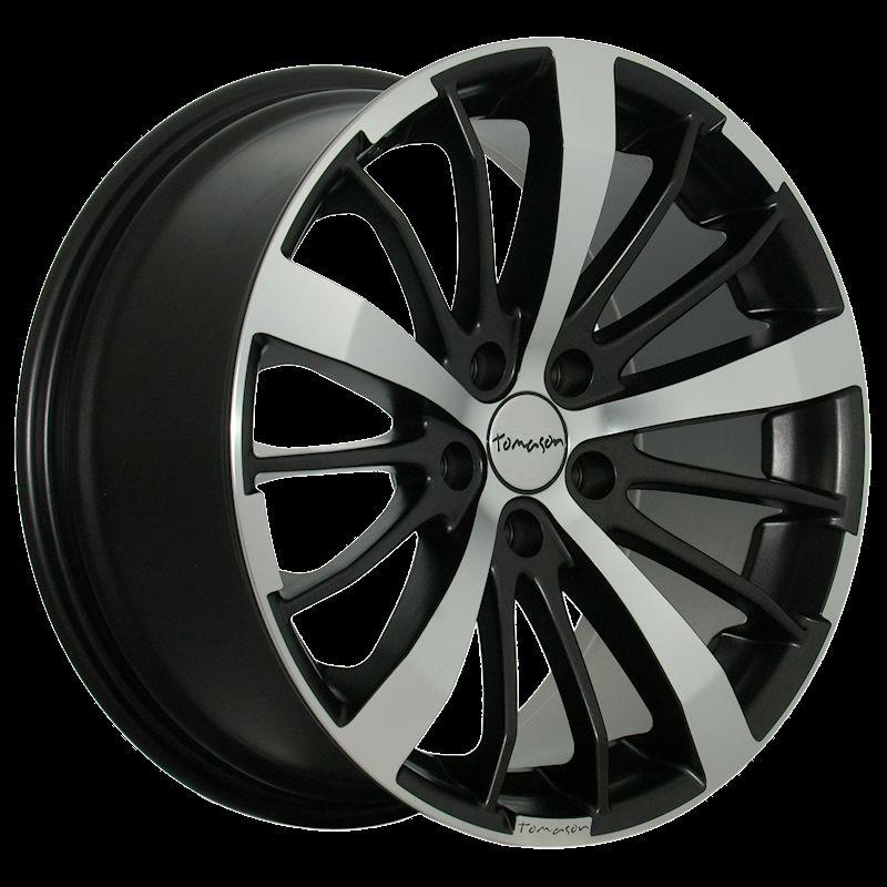 TOMASON TN6 metalic matt black polished 690000167 TN6 8,5X18(5X112X72,6)40 Flat Matt black polis