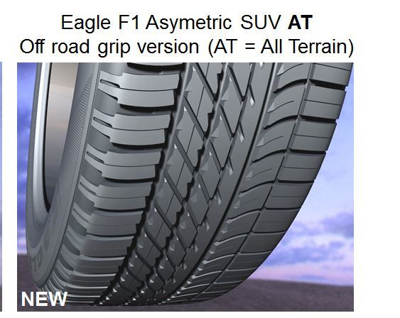 Goodyear EAGLE F1(ASSYM)SUV AT 255/60 R19 113W XL FP LR