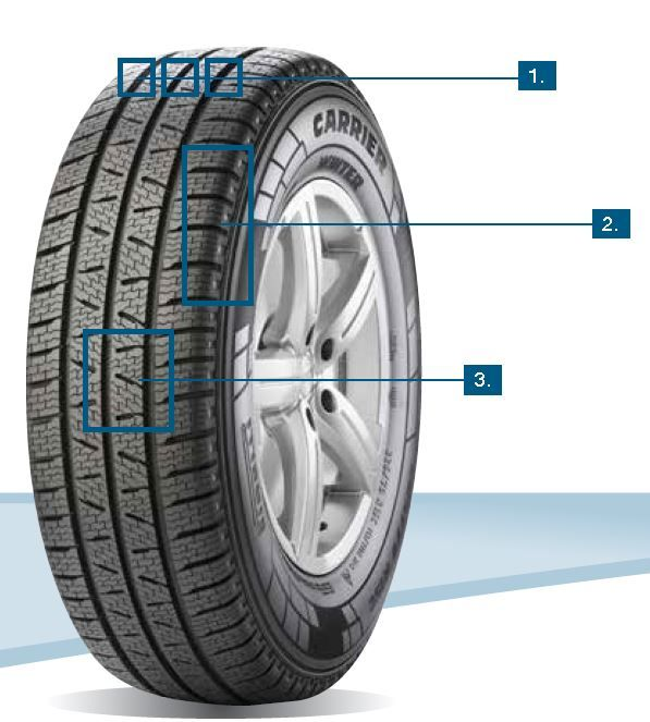 Pneumatiky Pirelli CARRIER WINTER 195/70 R15 C 104/102R