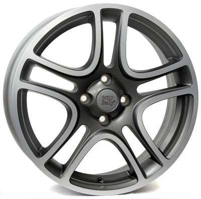 WSP Italy W160 ERATO šedo-leštěný RFI16606045AHF W160 ERATO 6x16(4X098 58,145)MAT.G.POL FIAT